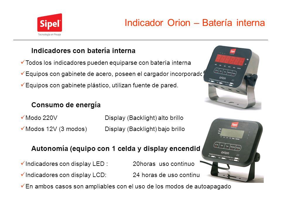 Indicador Orion – Batería interna