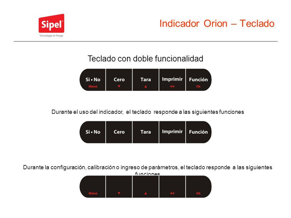 Indicador Orion – Teclado