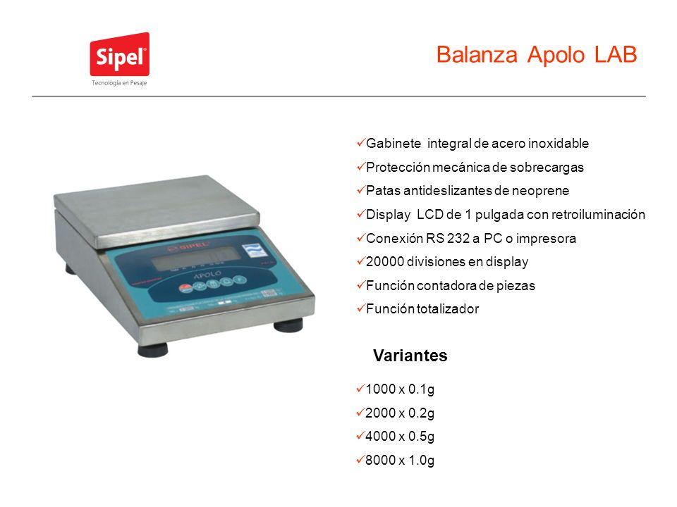 Balanza Apolo LAB Variantes Gabinete integral de acero inoxidable