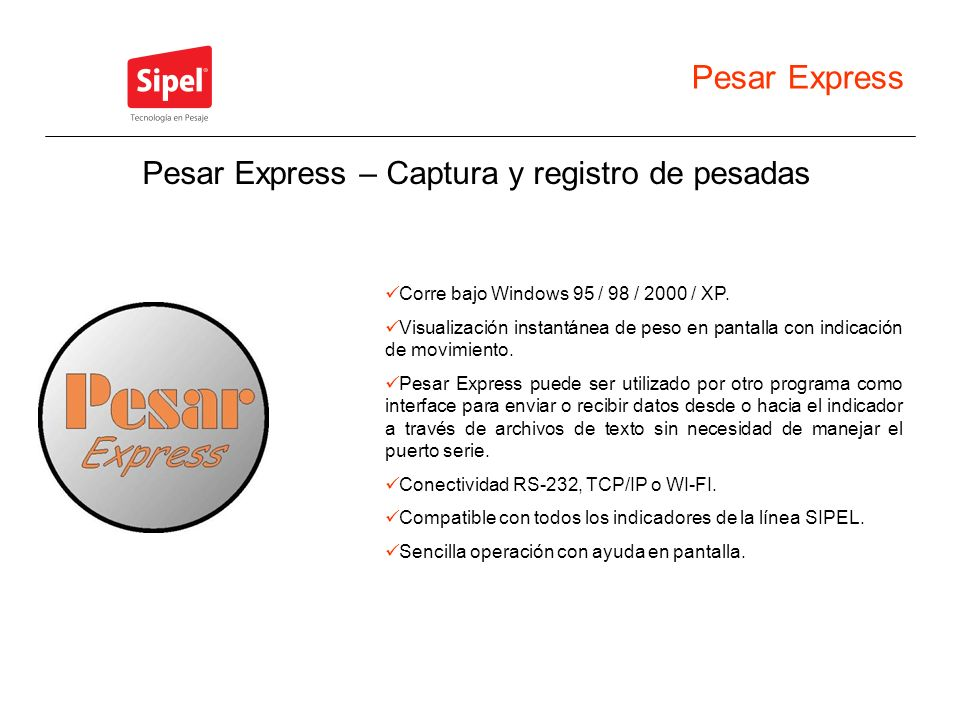 Pesar Express – Captura y registro de pesadas