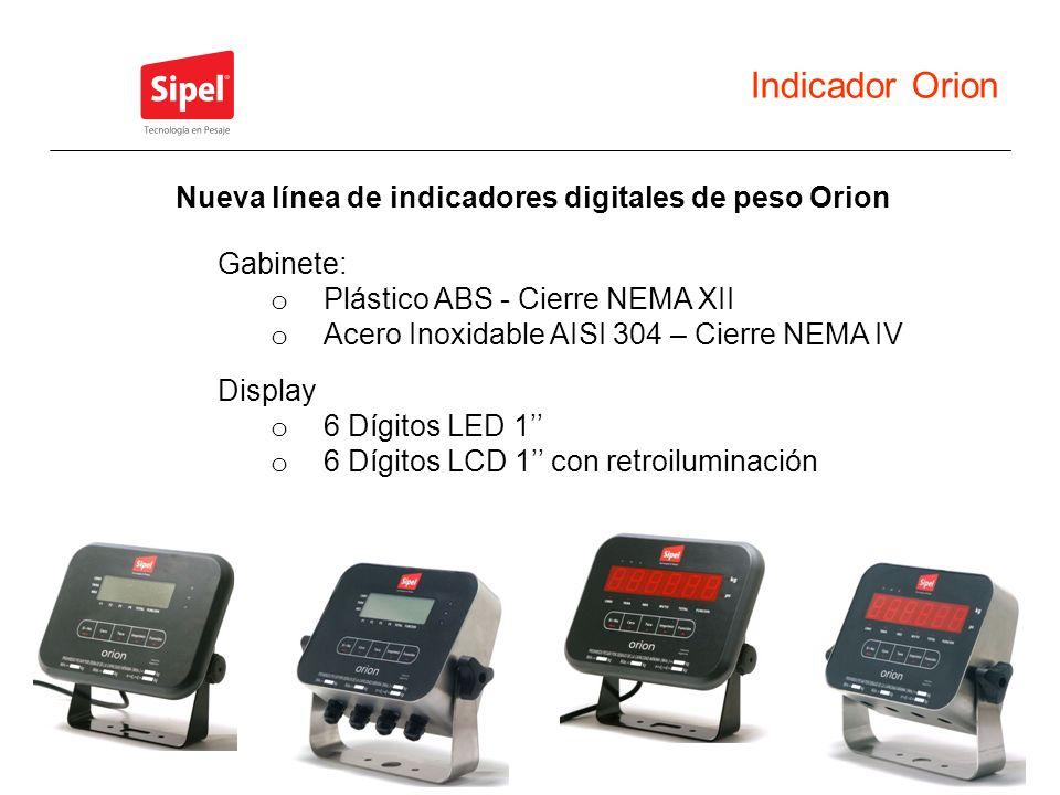 Nueva línea de indicadores digitales de peso Orion