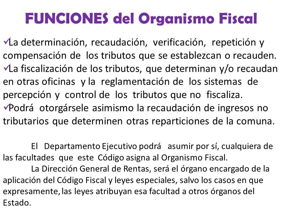 FUNCIONES del Organismo Fiscal