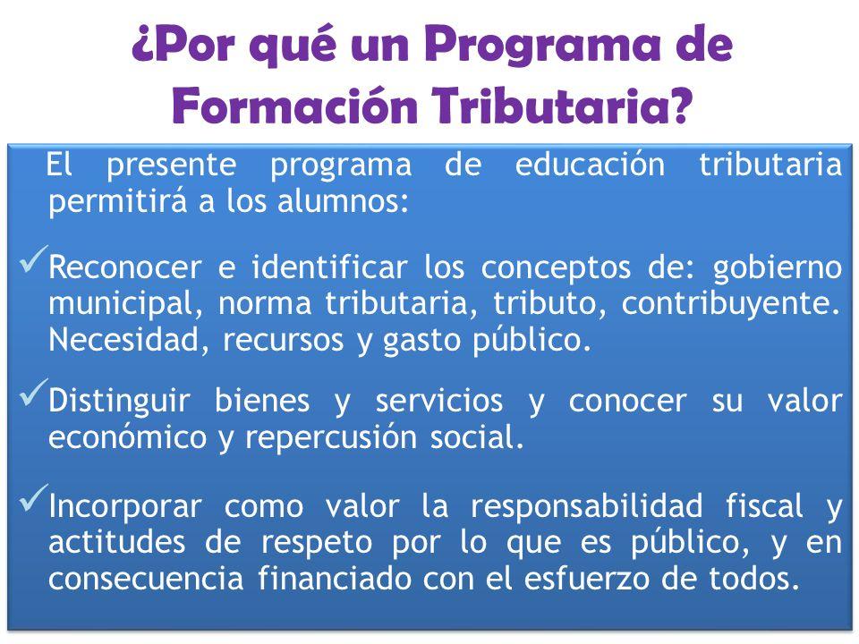 ¿Por qué un Programa de Formación Tributaria