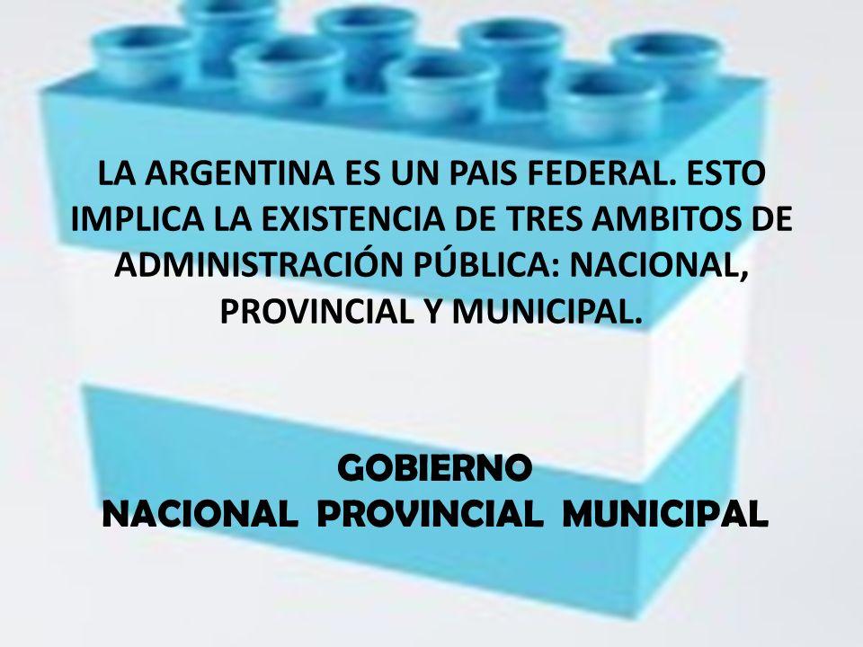GOBIERNO NACIONAL PROVINCIAL MUNICIPAL
