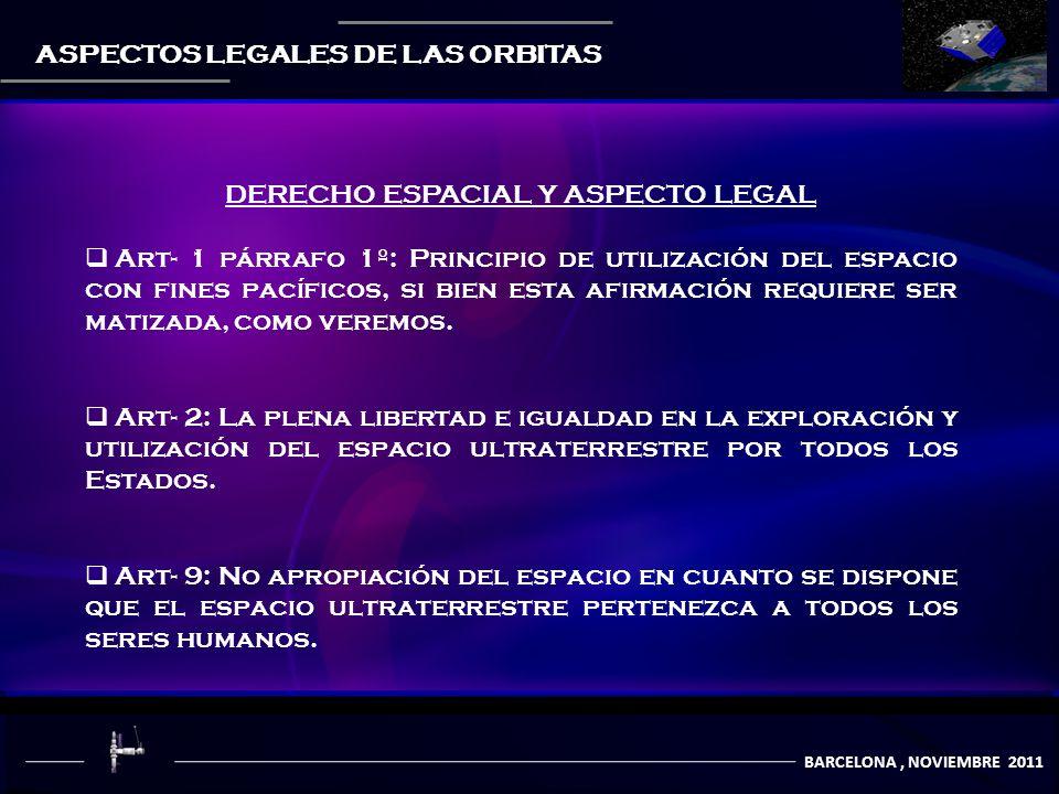 DERECHO ESPACIAL Y ASPECTO LEGAL