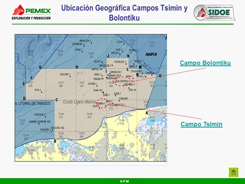 Ubicación Geográfica Campos Tsimin y Bolontiku