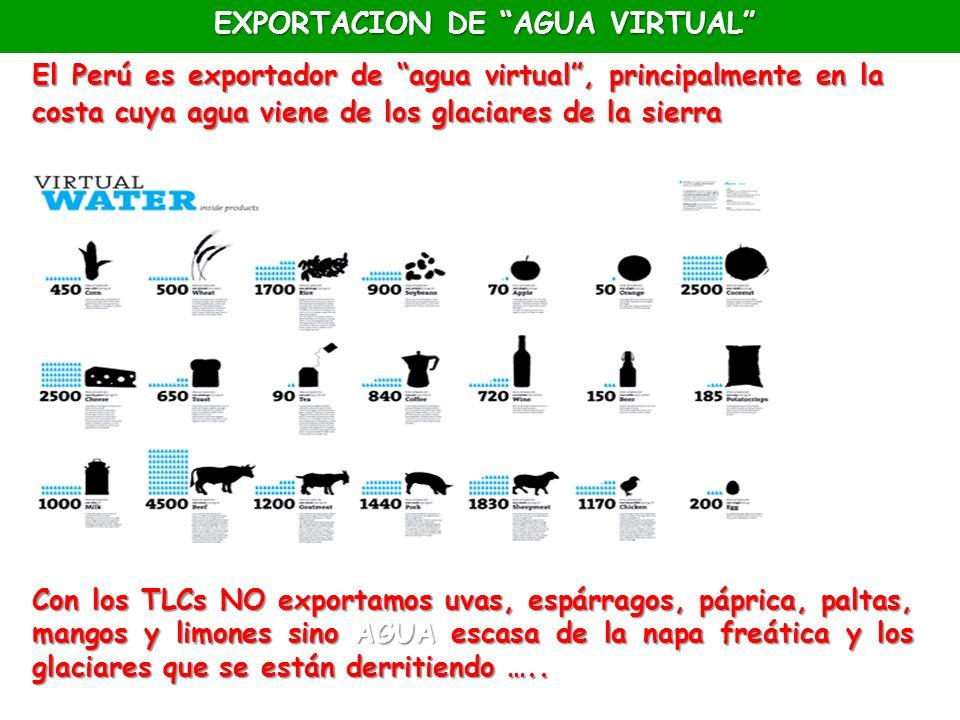 EXPORTACION DE AGUA VIRTUAL