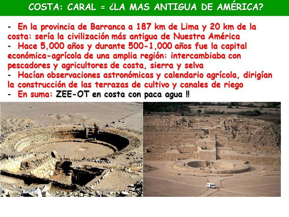 COSTA: CARAL = ¿LA MAS ANTIGUA DE AMÉRICA