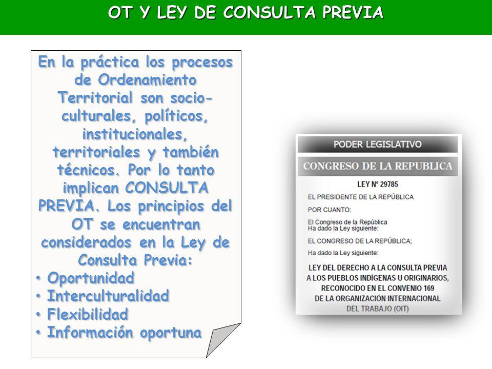 OT Y LEY DE CONSULTA PREVIA