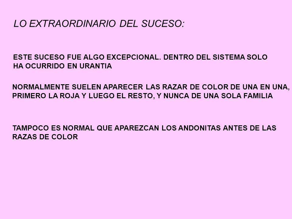 LO EXTRAORDINARIO DEL SUCESO:
