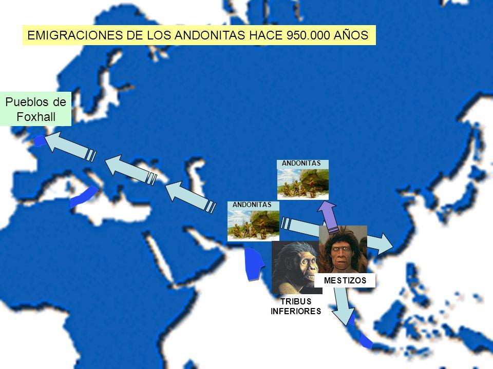 EMIGRACIONES DE LOS ANDONITAS HACE 950.000 AÑOS