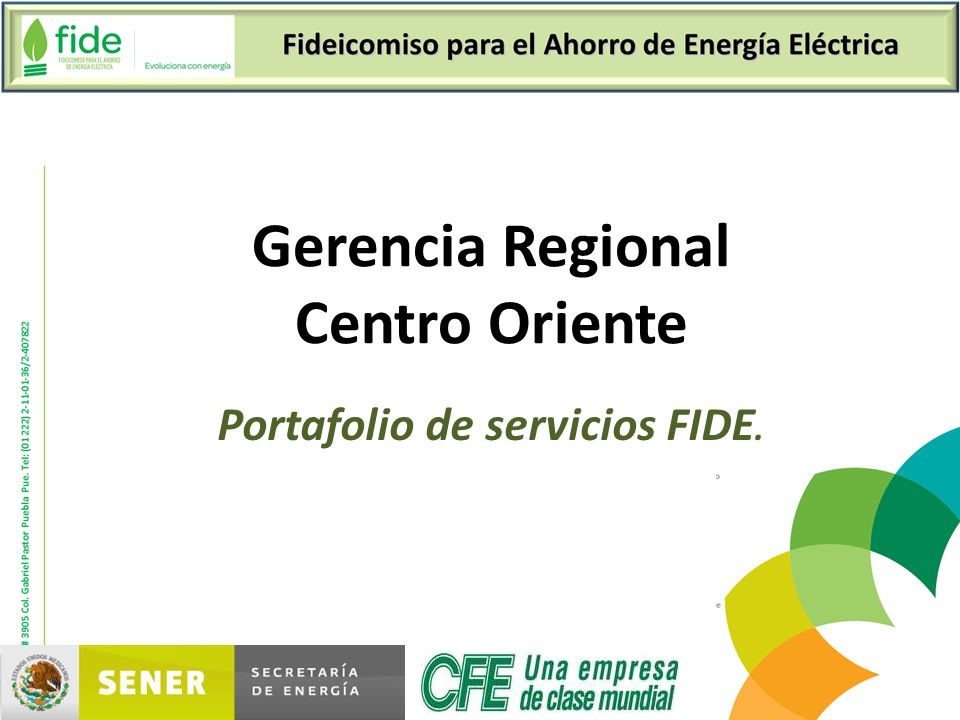 Portafolio de servicios FIDE.