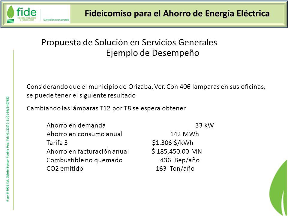 Propuesta de Solución en Servicios Generales Ejemplo de Desempeño