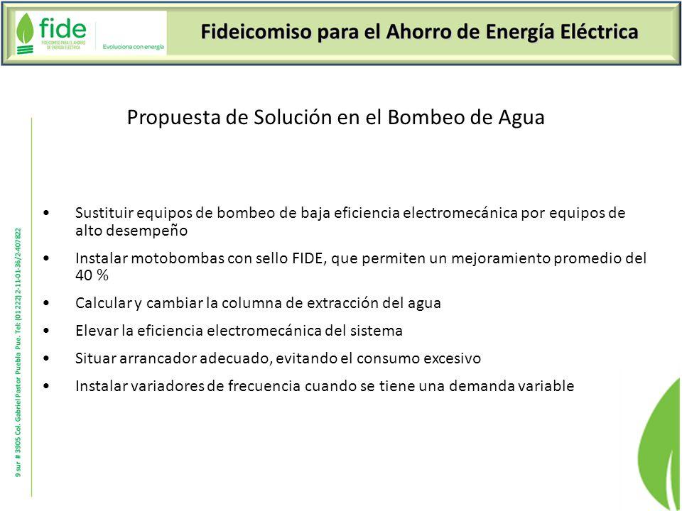 Propuesta de Solución en el Bombeo de Agua