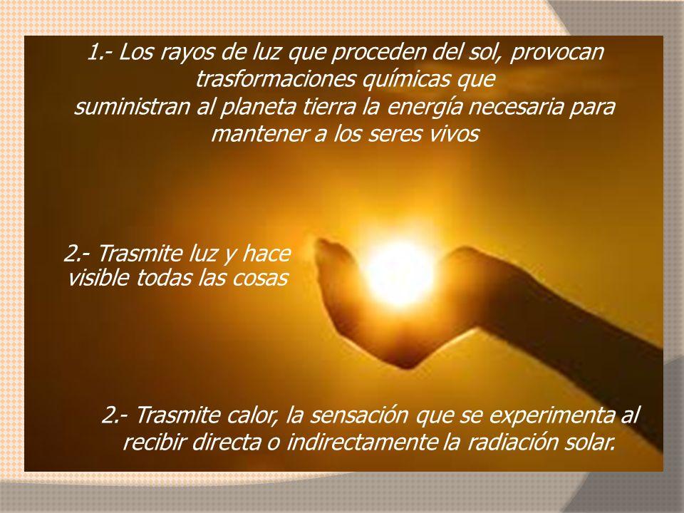 2.- Trasmite luz y hace visible todas las cosas