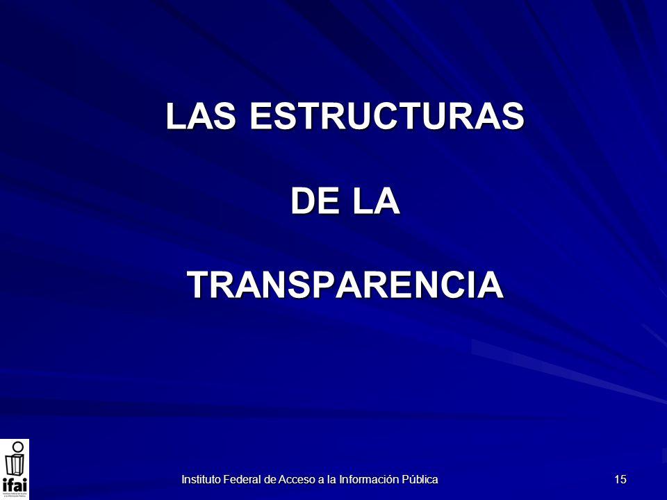 LAS ESTRUCTURAS DE LA TRANSPARENCIA