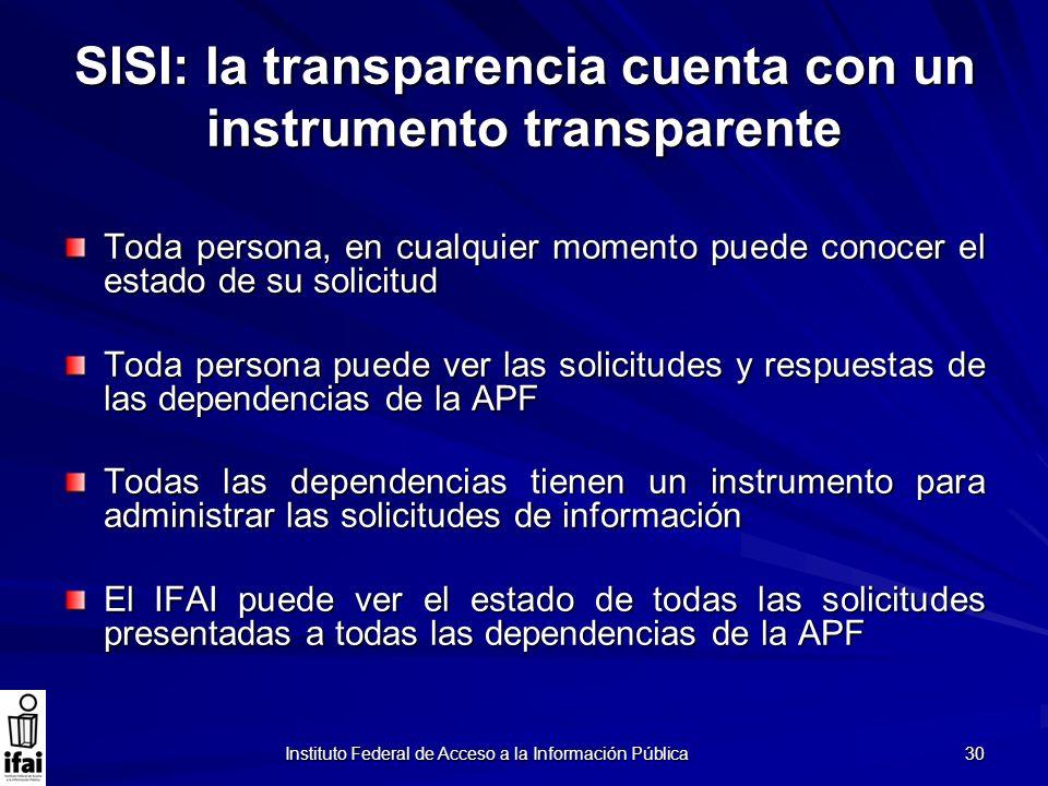 SISI: la transparencia cuenta con un instrumento transparente