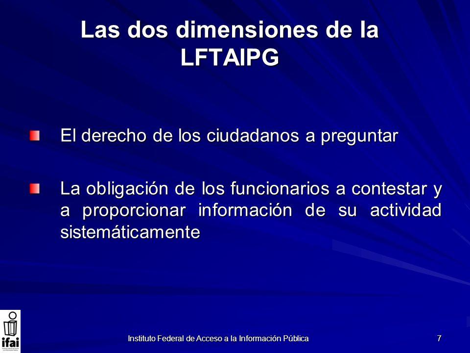 Las dos dimensiones de la LFTAIPG