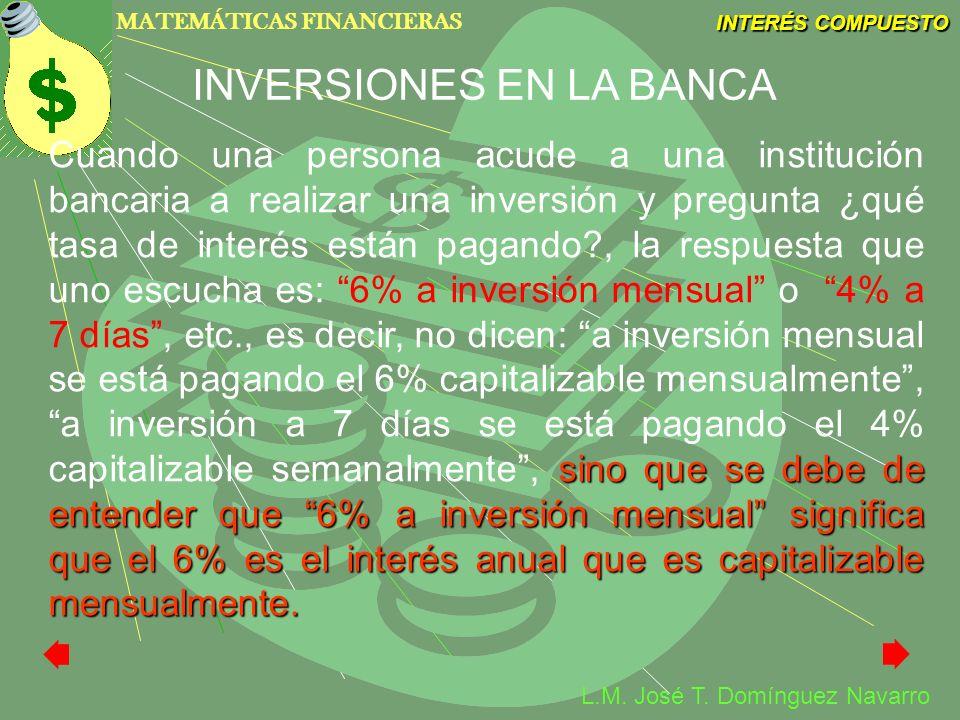 INVERSIONES EN LA BANCA