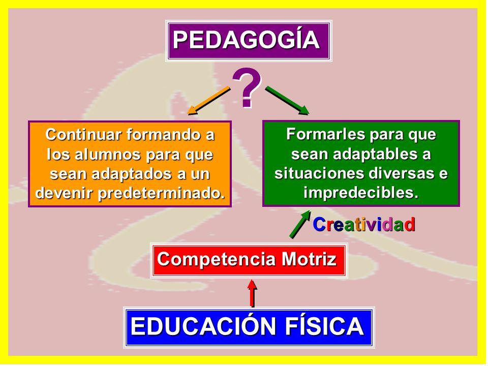 PEDAGOGÍA EDUCACIÓN FÍSICA Creatividad Competencia Motriz