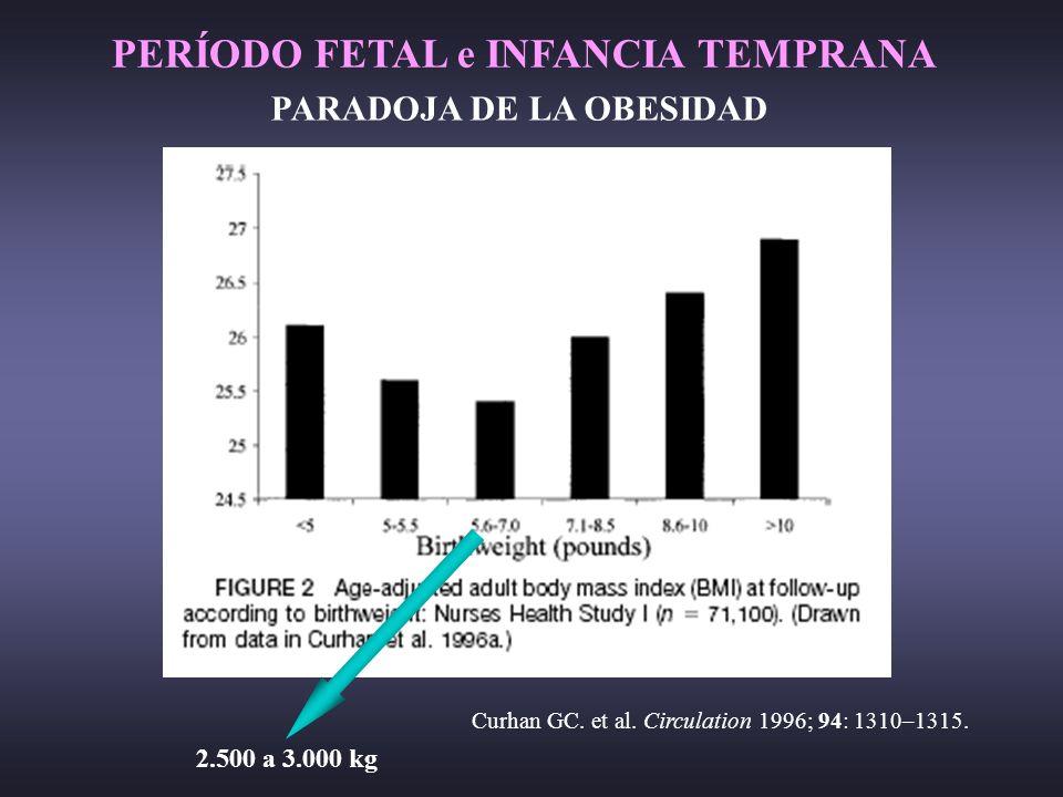 PERÍODO FETAL e INFANCIA TEMPRANA PARADOJA DE LA OBESIDAD