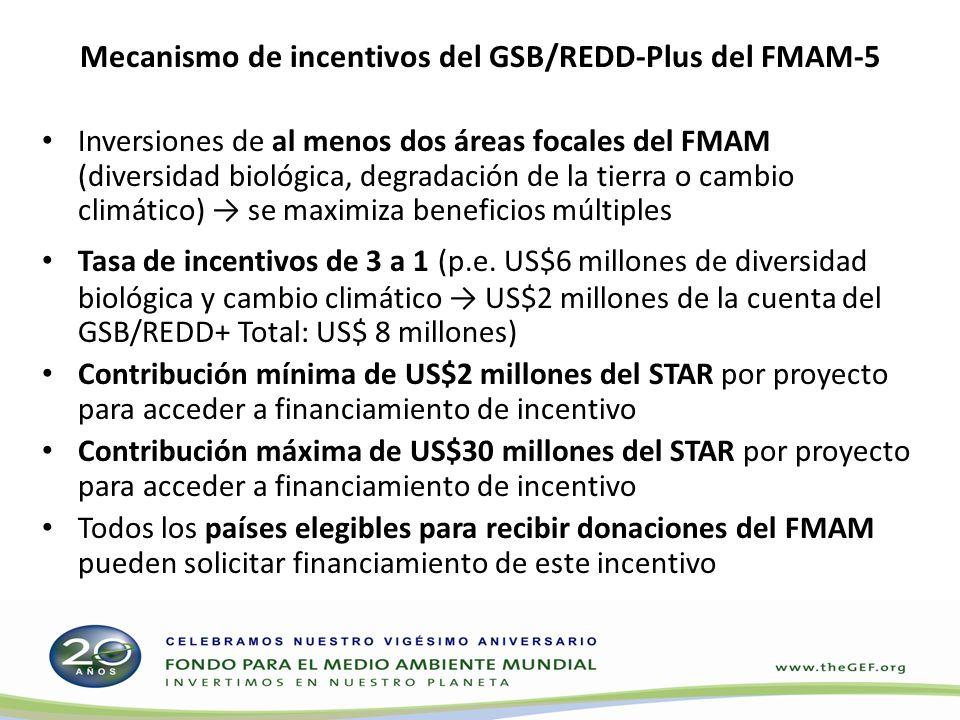 Mecanismo de incentivos del GSB/REDD-Plus del FMAM-5