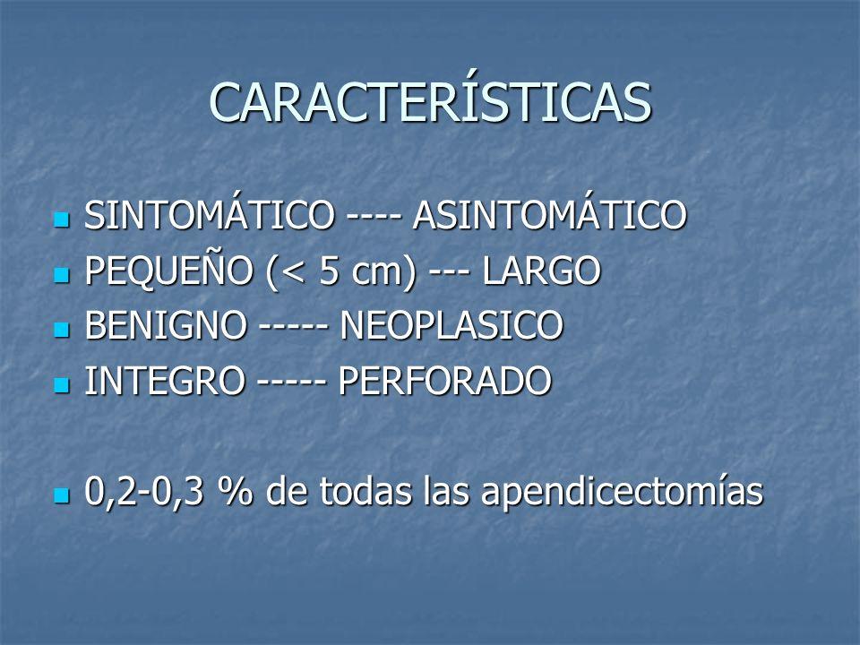 CARACTERÍSTICAS SINTOMÁTICO ---- ASINTOMÁTICO