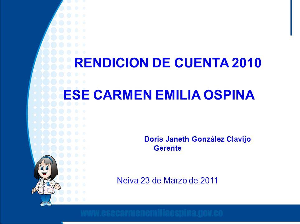 ESE CARMEN EMILIA OSPINA Doris Janeth González Clavijo