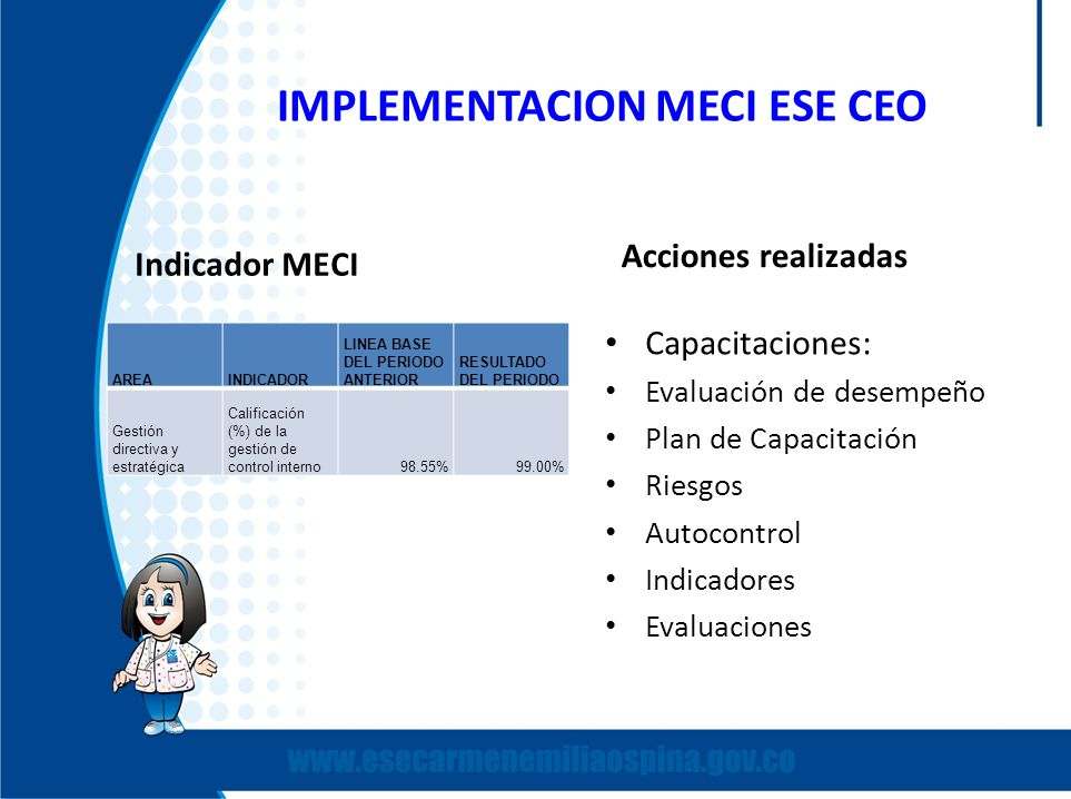 IMPLEMENTACION MECI ESE CEO