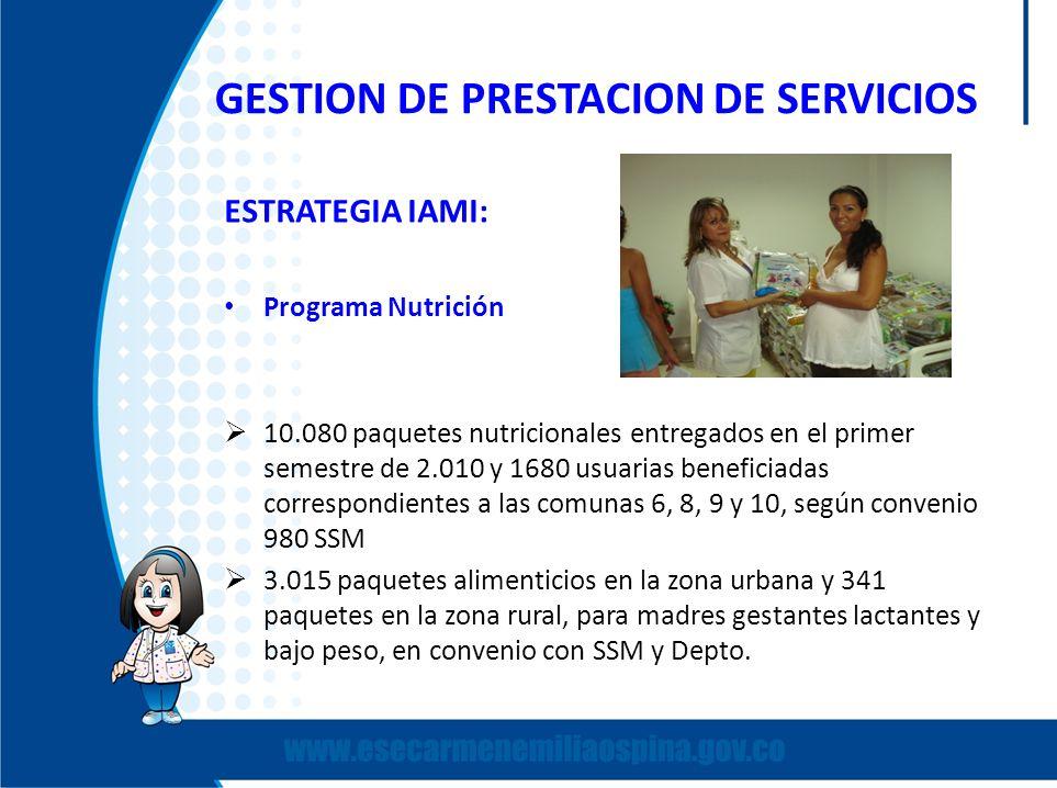 GESTION DE PRESTACION DE SERVICIOS