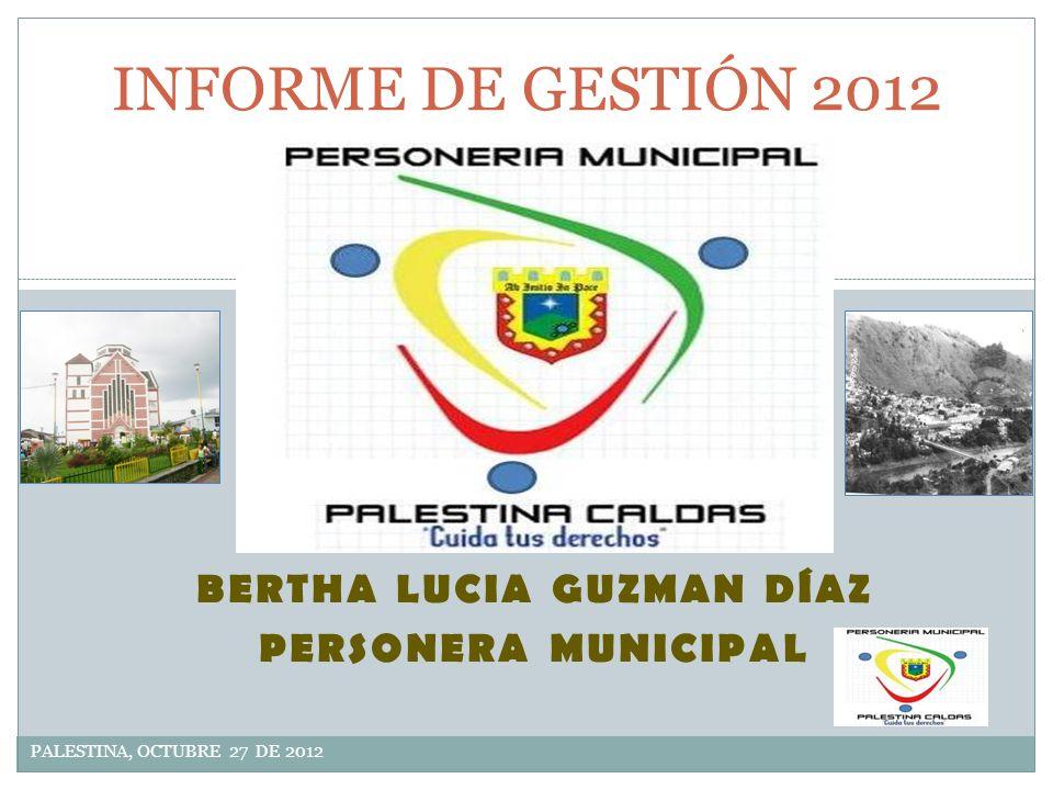 BERTHA LUCIA GUZMAN DÍAZ PERSONERA MUNICIPAL