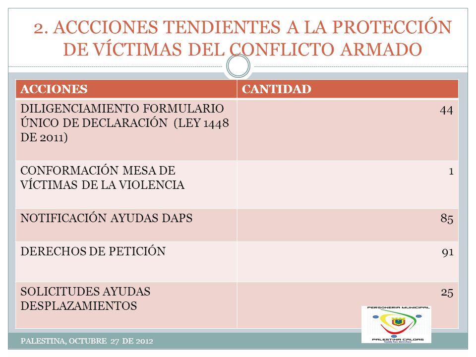 2. ACCCIONES TENDIENTES A LA PROTECCIÓN DE VÍCTIMAS DEL CONFLICTO ARMADO
