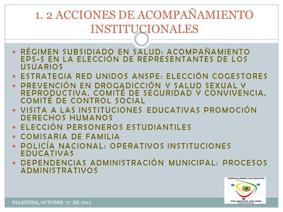 1. 2 ACCIONES DE ACOMPAÑAMIENTO INSTITUCIONALES