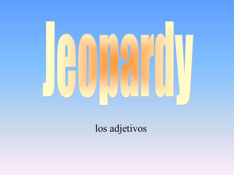 Jeopardy los adjetivos