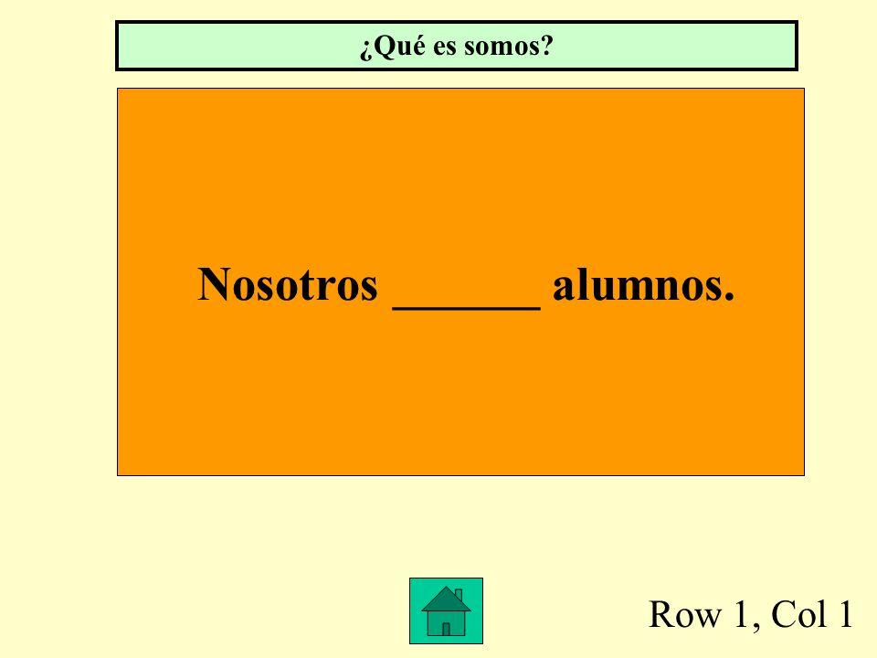 Nosotros ______ alumnos.