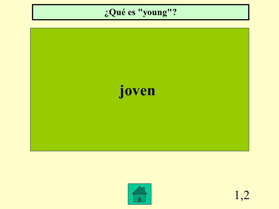 ¿Qué es young joven 1,2