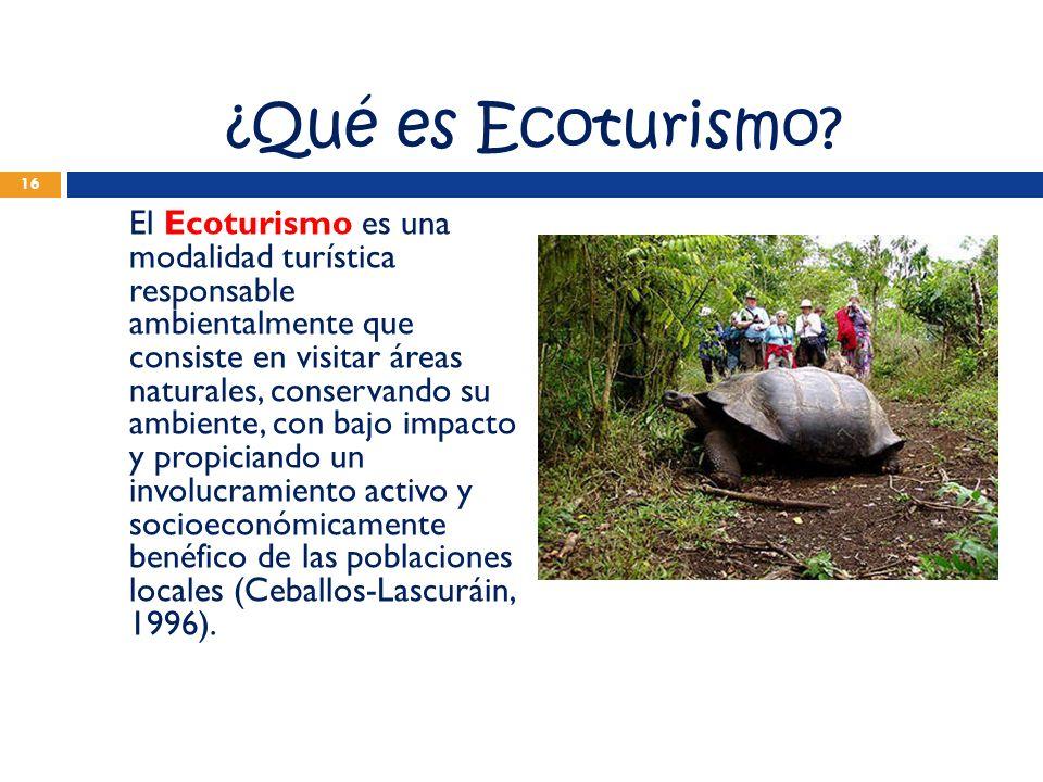 ¿Qué es Ecoturismo