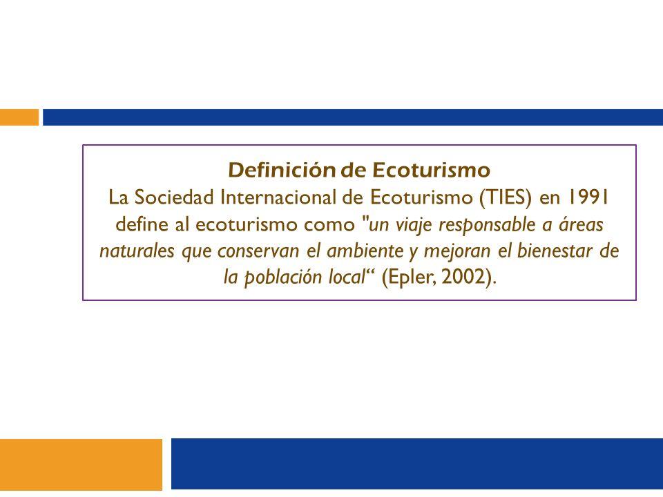 Definición de Ecoturismo