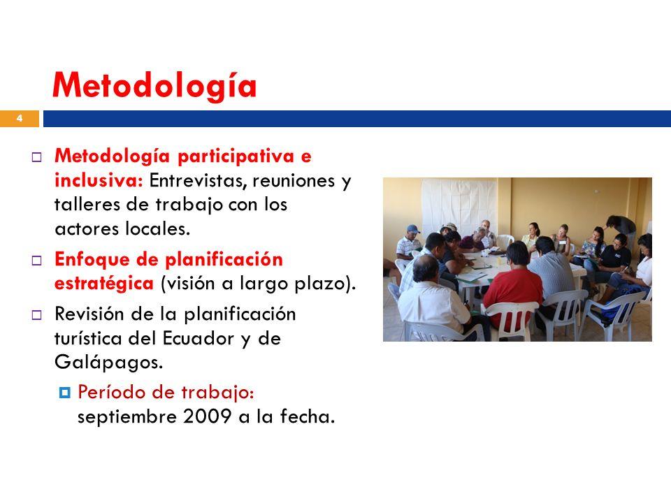 Metodología Metodología participativa e inclusiva: Entrevistas, reuniones y talleres de trabajo con los actores locales.
