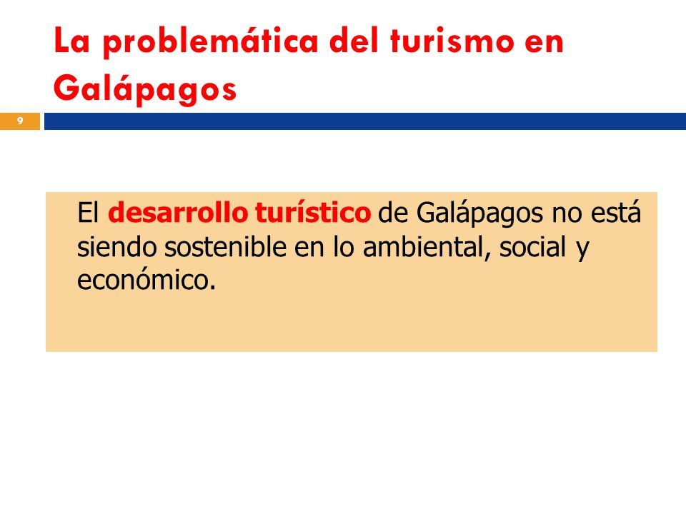 La problemática del turismo en Galápagos