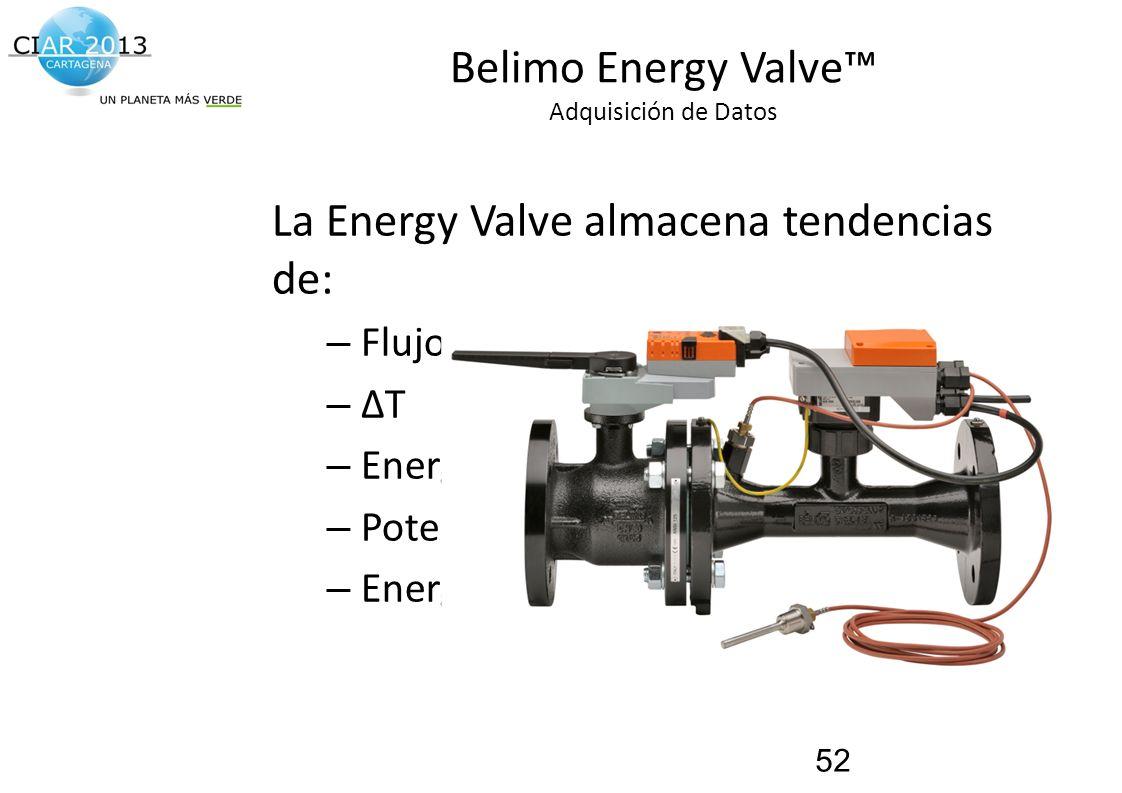 Belimo Energy Valve™ Adquisición de Datos