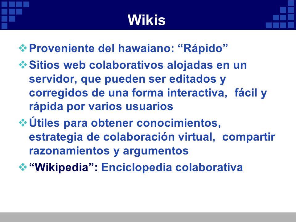 Wikis Proveniente del hawaiano: Rápido