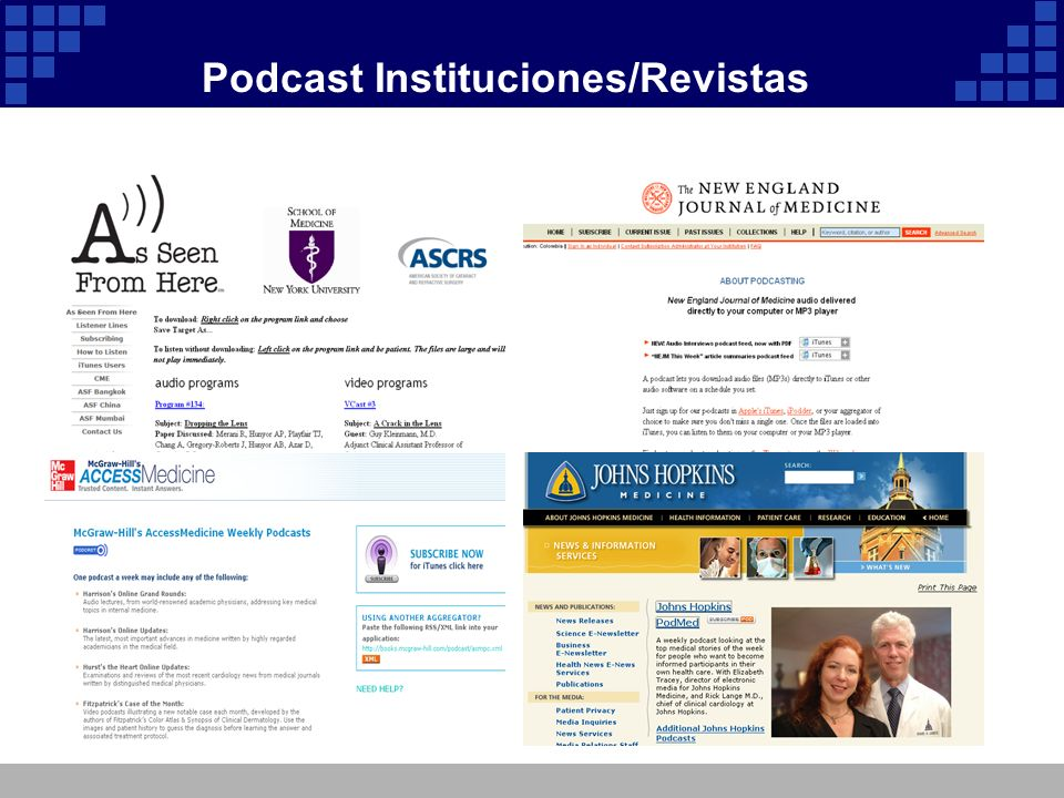 Podcast Instituciones/Revistas