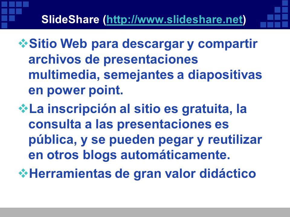 SlideShare (http://www.slideshare.net)