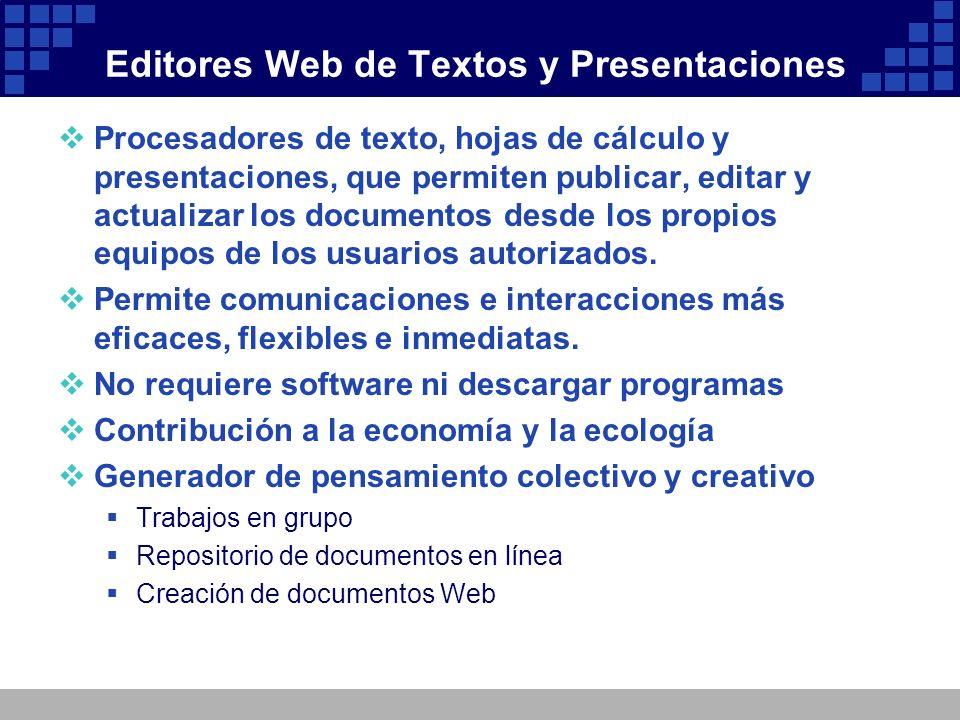 Editores Web de Textos y Presentaciones
