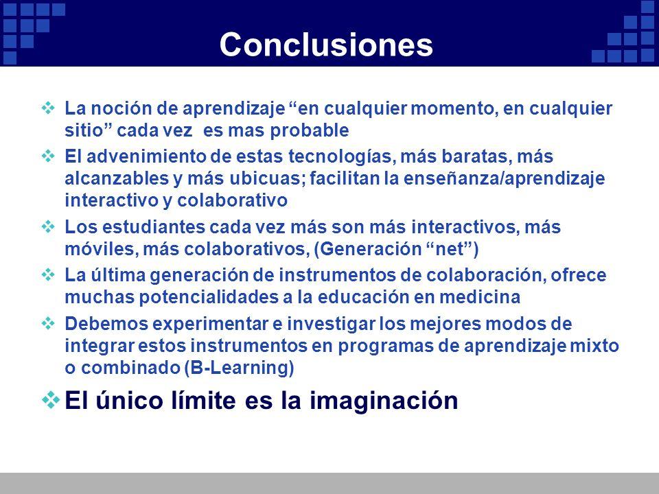 Conclusiones El único límite es la imaginación