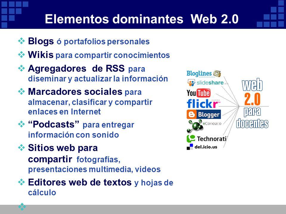 Elementos dominantes Web 2.0