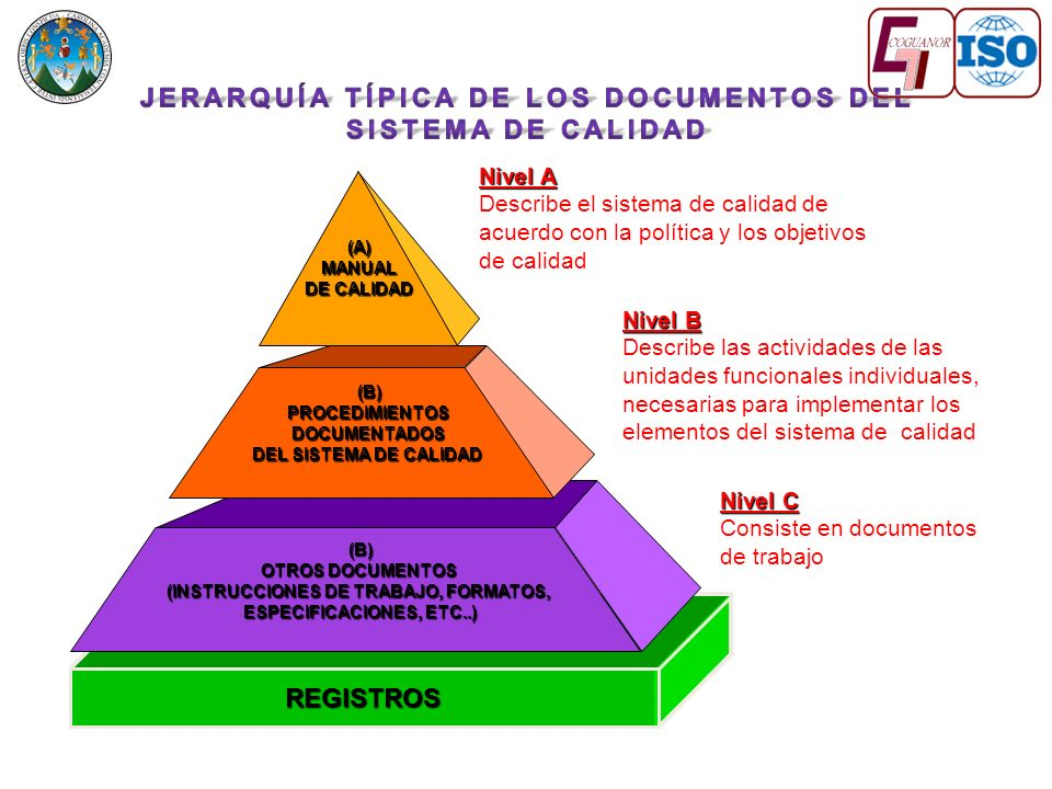 JERARQUÍA TÍPICA DE LOS DOCUMENTOS DEL SISTEMA DE CALIDAD