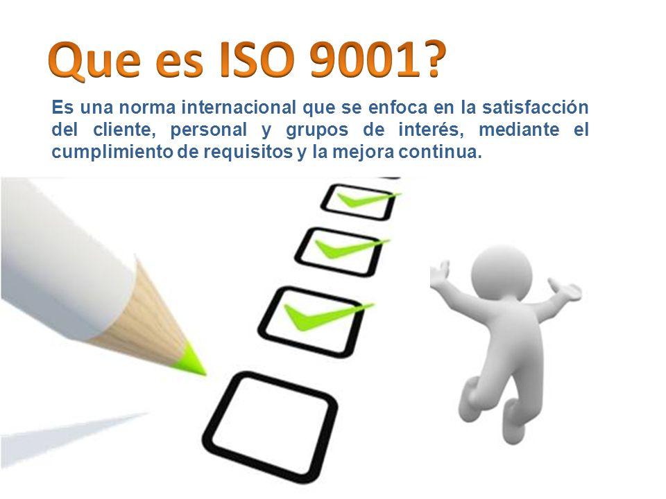 Que es ISO 9001
