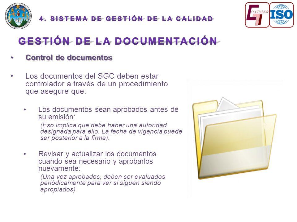 Gestión de la documentación
